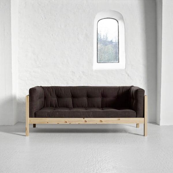 Sofa dwuosobowa Karup Fusion Natural/Linoso Choco