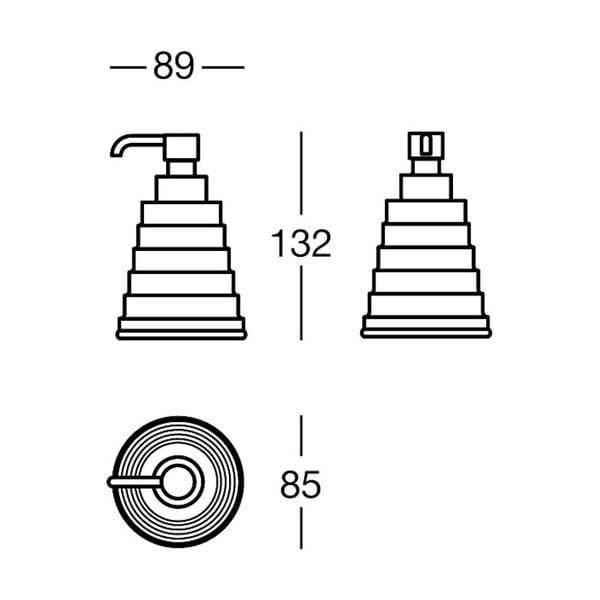 Dozownik mydła Chromo Soap, 9x13x8,5 cm