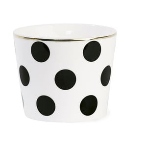 Doniczka ceramiczna Big Black Dots