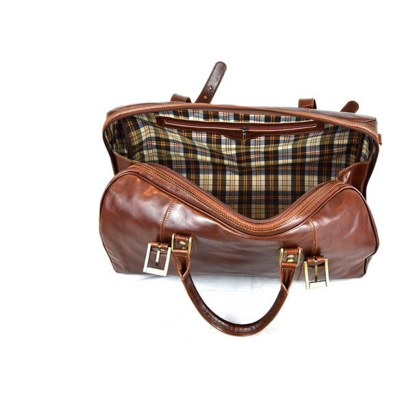 Skórzana torba Santo Croce VL936 Brown