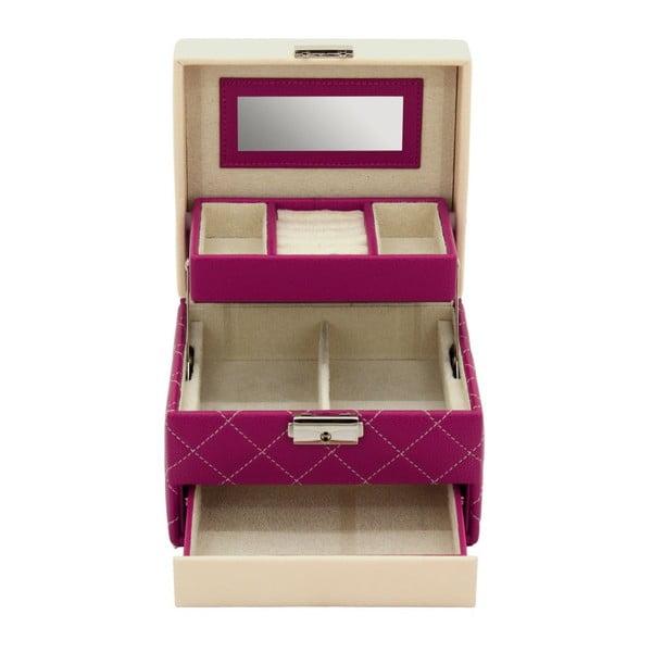 Różowa szkatułka Friedrich Lederwaren Diana