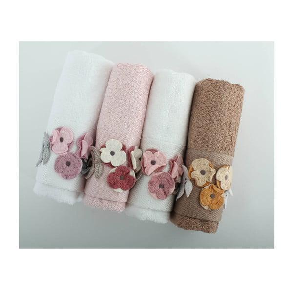 Komplet 4 ręczników Menekse, 50x90 cm