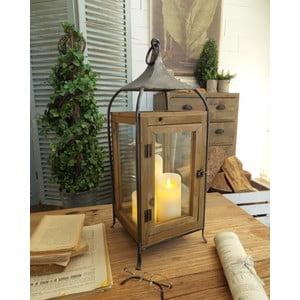 Lampion z drewna jodłowego Orchidea Milano Cortona,wysokość60cm
