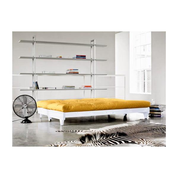 Sofa rozkładana Karup Fresh White/Amarillo