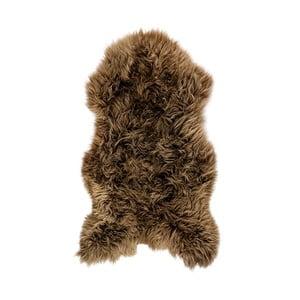 Brązowa skóra owcza Swedo, 110x60cm
