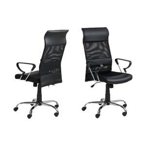 Czarny fotel biurowy Actona Rosenheim