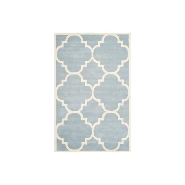 Wełniany dywan Greenwich 152x243 cm, jasnoniebieski