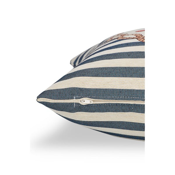 Poszewka na poduszkę Maritim Framed Blue, 45x45 cm