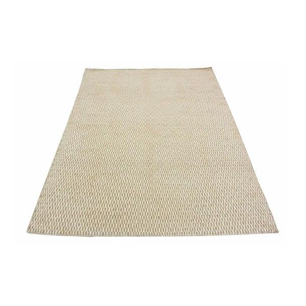 Dywan wełniany Flat, 160x230 cm, beżowy