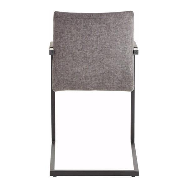 Szare krzesło z podłokietnikami Støraa Stacey