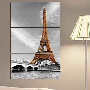 3-częściowy obraz Wieża Eiffla