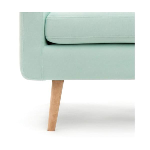 Pastelowo zielony fotel VIVONITA Ina
