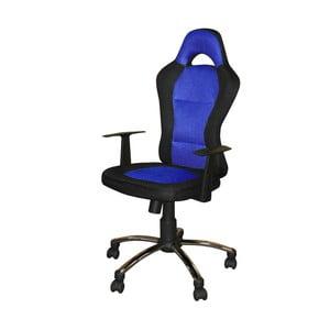 Niebieskoczarny fotel biurowy SOB Office
