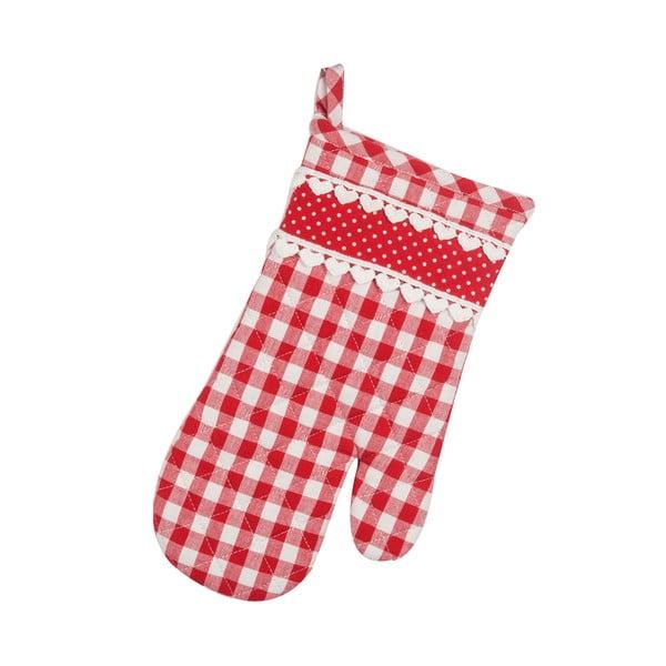 Rękawica kuchenna Basic Hearts, czerwona