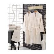 Zestaw 2 bawełnianych szlafroków i 4 ręczników Dennia