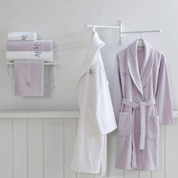 Zestaw 2 bawełnianych szlafroków i 4 ręczników z kolekcji Marie Claire Olive