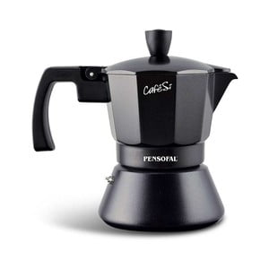 Czarna kawiarka do espresso Pensofal Cafesi Noir, 3 filiżanki