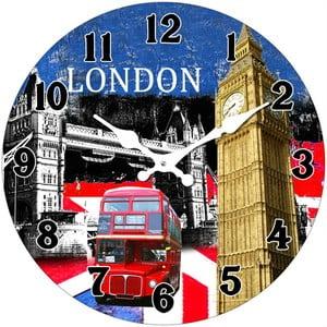 Szklany zegar W Londynie, 34 cm