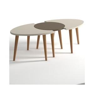 Beżowo-brązowy stolik Monte Allegro