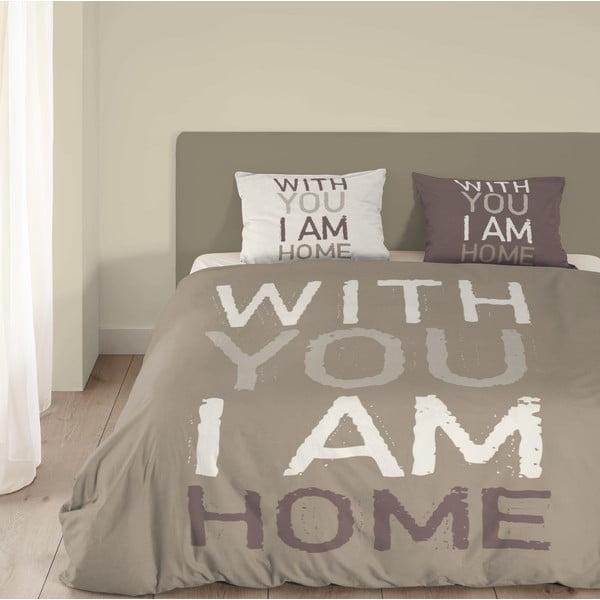 Beżowa pościel Muller Textiel I'm Home, 140 x 200 cm