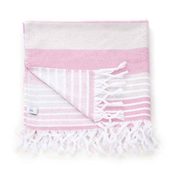 Ręcznik hammam Pestemal Pink Beige