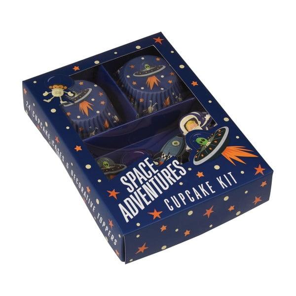 Zestaw papilotek i ozdób do ciastek Rex London Space Adventures