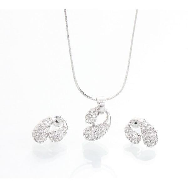 Komplet naszyjnika i kolczyków z kryształami Swarovskiego Yasmine Meuse