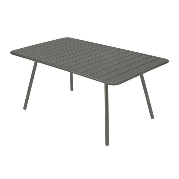 Szary stół metalowy Fermob Luxembourg