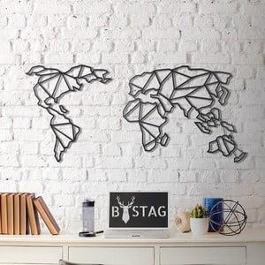 Metalowa dekoracja ścienna Map, 60x130 cm