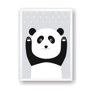 Plakat Nord & Co Snow Panda, 21x29 cm