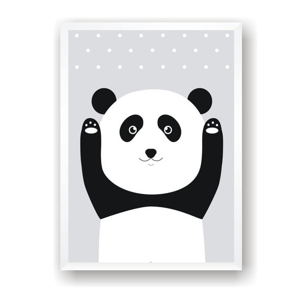 Plakat Nord & Co Snow Panda, 21x29 cm