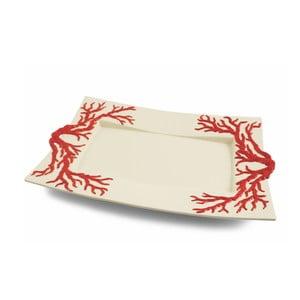 Prostokątny talerz Corallo Rosso, 45x30 cm