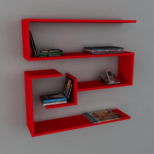 Półka Confier Book Red, 22x90x87 cm