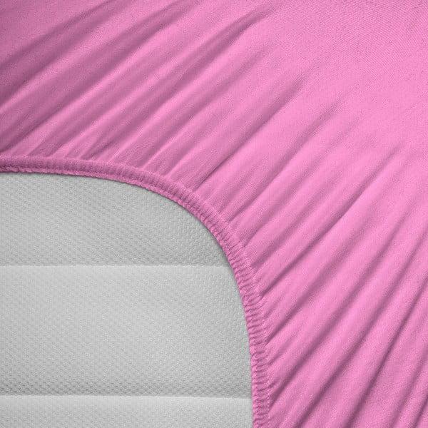 Prześcieradło elastyczne Hoeslaken 80-100x200 cm, różowe