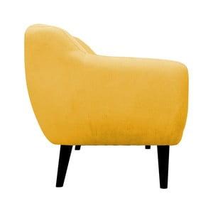 Żółty fotel Mazzini Sofas Toscane