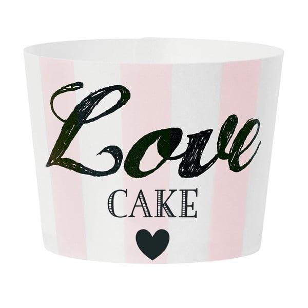 Papierowe foremki na muffiny Love Pink, 24 szt.