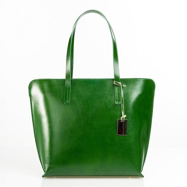 Torebka skórzana Aurel, zielona