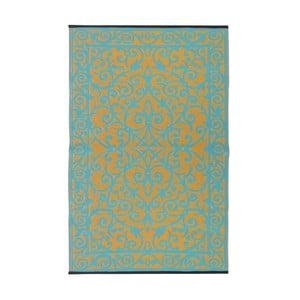 Niebiesko-zielony dwustronny dywan zewnętrzny Green Decore Gala, 90x150 cm