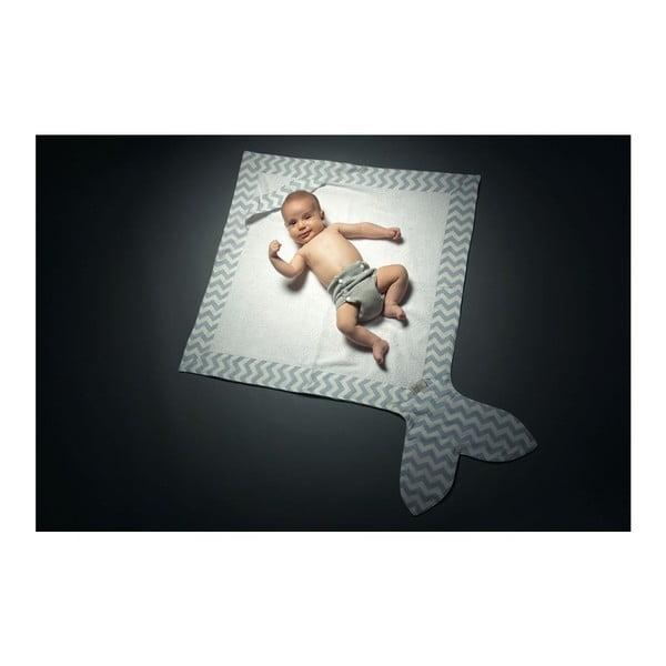 Ręcznik dla dziecka Fish Mint, 80x 80 cm