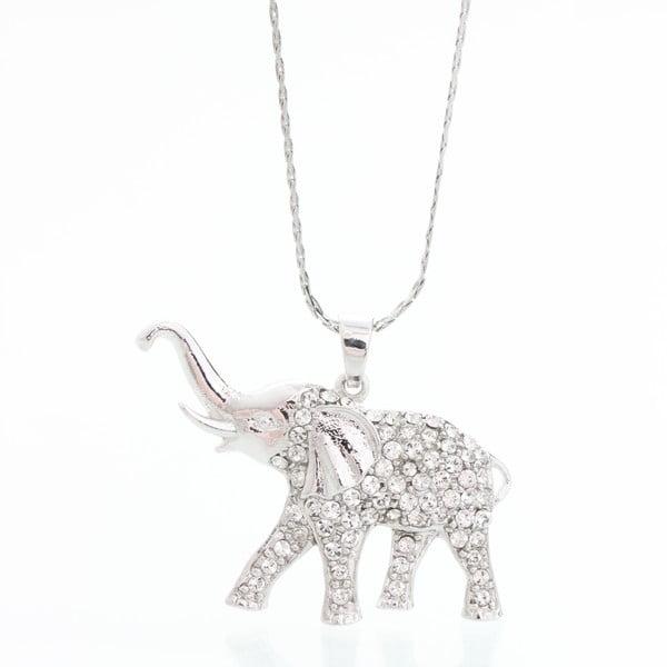 Naszyjnik z kryształami Swarovski Elements Laura Bruni Elephant