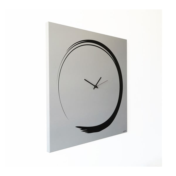 Zegar ścienny dESIGNoBJECT.it Enso Clock White, 50 x 50 cm