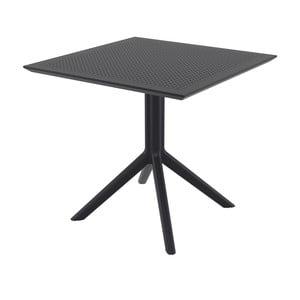 Czarny stół ogrodowy Resol Sky, 80x80 cm