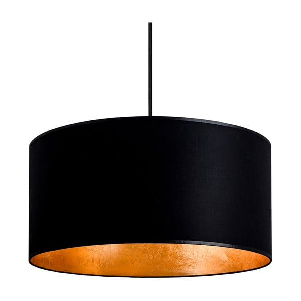 Czarno-złota lampa wisząca Sotto Luce MIKA,Ø40cm