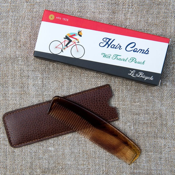 Grzebień w etui Rex London Le Bicycle