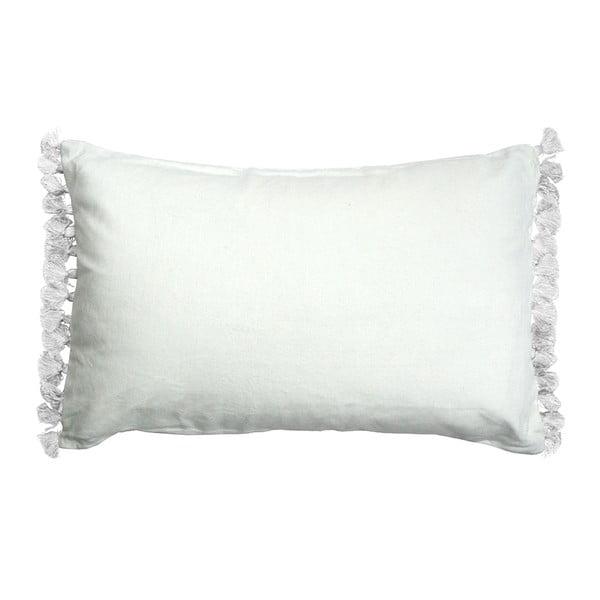 Biała poduszka Ragged Rose Terry