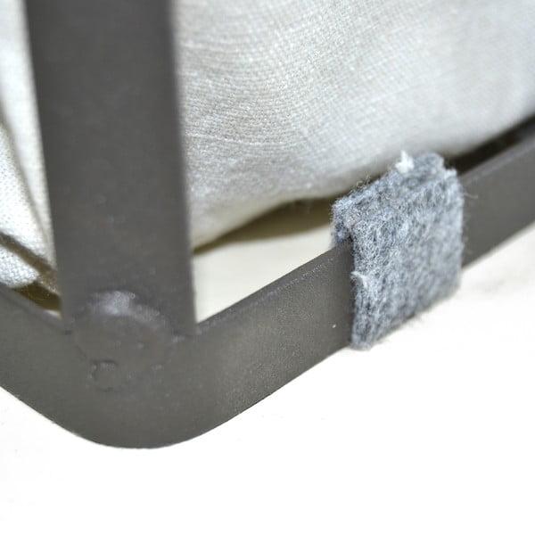 Zestaw 3 koszyków Metal Fabric