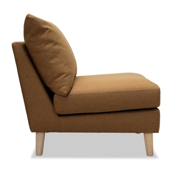 Brązowy fotel Vivonita Liam
