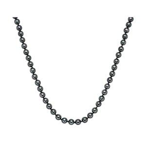 Perłowy naszyjnik Muschel, antracytowe perły 8 mm, długość 45 cm