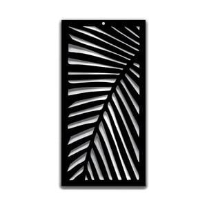 Czarna dekoracja ścienna Dekorjinal Pouff Leaf Right, 68x35cm
