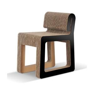 Kartonowe krzesło Hook Black